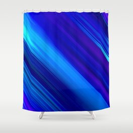 Abstract watercolor colorful lines painting Shower Curtain
