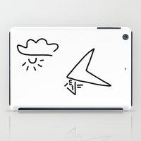 aviation iPad Cases featuring hang-glider aviation by Lineamentum