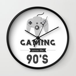 Gaming Since the 90's (Version 2) Wall Clock