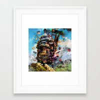 calcifer Framed Art Prints featuring howl's moving castle by ururuty