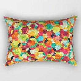 Colorful Half Hexagons Pattern #04 Rectangular Pillow