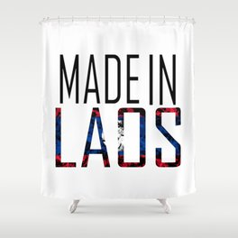 Made In Laos Shower Curtain