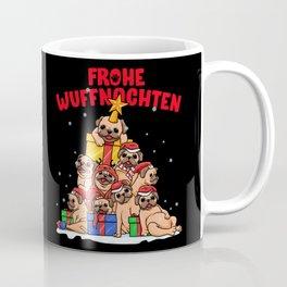 Frohe Wuffnachten für Mops Besitzer - Hundehalter Coffee Mug