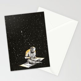 Allen Ginsberg in the sky Stationery Cards