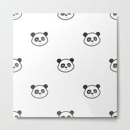 Panda baby face Metal Print