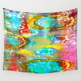 Mixed Media Abstract Two Wall Tapestry
