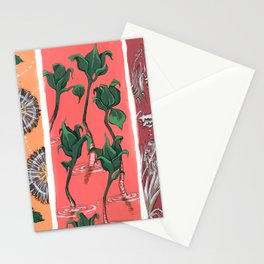 Cool Hues on Warm Background Stationery Cards