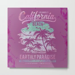 California Beach Surfers Paradise Metal Print