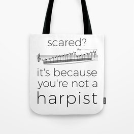 Fearless harpists Tote Bag