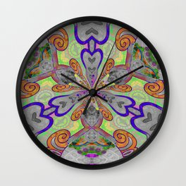 Magical Mystery Tapestry Print Wall Clock