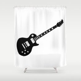 Black Guitar Shower Curtain