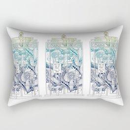 Mandala police box Rectangular Pillow