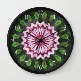 Rosas Moradas 2 Kaleidoscope 16 Wall Clock