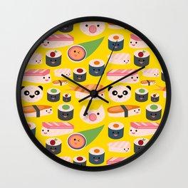 Kawaii sushi sushi Wall Clock