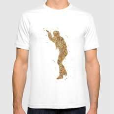 Han Solo Star . Wars Mens Fitted Tee MEDIUM White