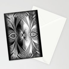 Abstract Peacock. Black+White. Stationery Cards