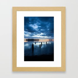 Five Posts Framed Art Print