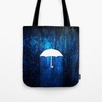 umbrella Tote Bags featuring umbrella by Darthdaloon