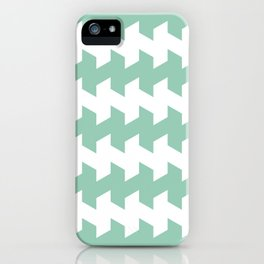jaggered and staggered in grayed jade iPhone Case