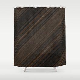 Ebony Macassar Wood Shower Curtain