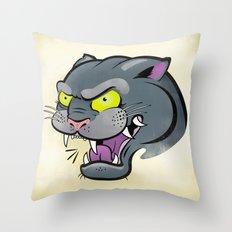 Panther Tattoo Flash Throw Pillow
