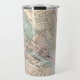 Vintage Map of Wilmington Delaware (1884) Travel Mug