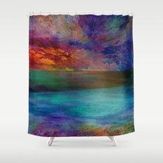 Ocean at Sunset Shower Curtain