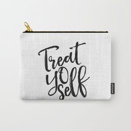 Treat Yo Self,Printable Art,Motivational Poster,Inspirational Quote,Quote Prints,Typography Print Carry-All Pouch