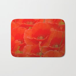Red Poppies #decor #buyart #society6 Bath Mat