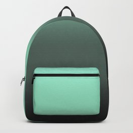 mint to black ombre Backpack
