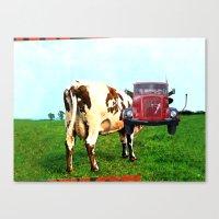 floyd Canvas Prints featuring Red Floyd by Marko Köppe