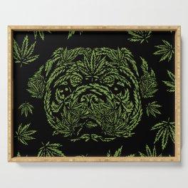 Marijuana of Pug Serving Tray