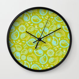 Hedgehog Pasley_Blue-Green Wall Clock