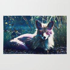 Night Fox Painting Rug