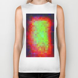 Digital Patchwork: Spot Study Inverted Biker Tank