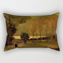 Autumn Landscape at Dusk by Vincent van Gogh Rectangular Pillow