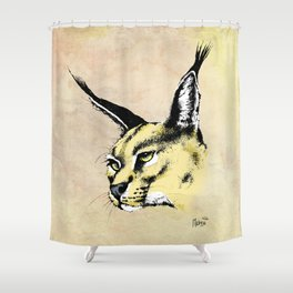 CARACAL Shower Curtain