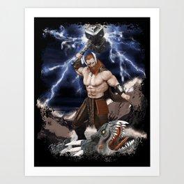 THOR Fantasy Art Print Art Print