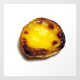 Portuguese custard tart Art Print