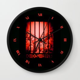 The Zoo [Red] Wall Clock