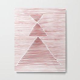 Rosario Watercolor in Pink Metal Print