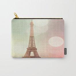 Paris Eiffel Tower Warm Bokeh Carry-All Pouch