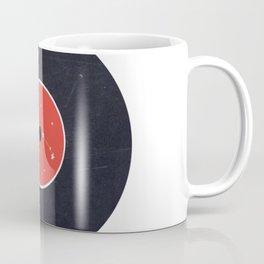 Vinyl Record Star Sign Art   Aries Coffee Mug