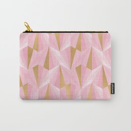 Pink & Gold Fractal Carry-All Pouch