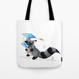 Grad in a Mask Tote Bag