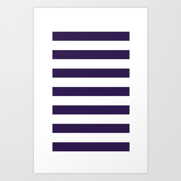 dark purple stripes Art Print
