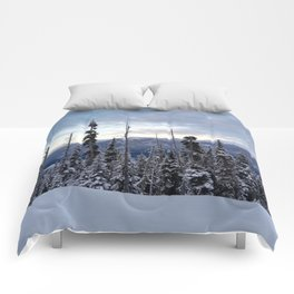 Snowy spruces frontier Comforters