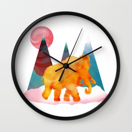 Mammoth Mountains Wall Clock