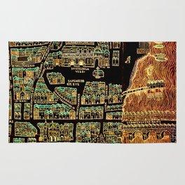 Paris old map year 1550 Rug