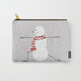 Snowman yoga - Warrior II Carry-All Pouch